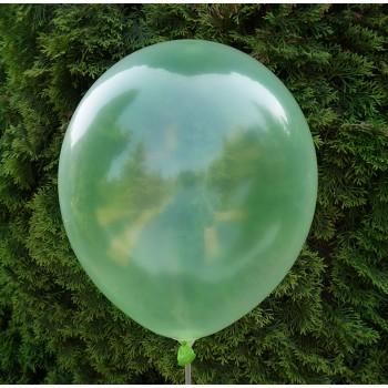 Balon krystaliczny zielony 30 cm  /100 szt.