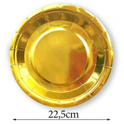Talerzyk/talerzyki złoty / gold 22,5 cm / 10 szt.