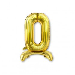 """Balon cyfra złota /stojąca """"0"""" 40 cm"""