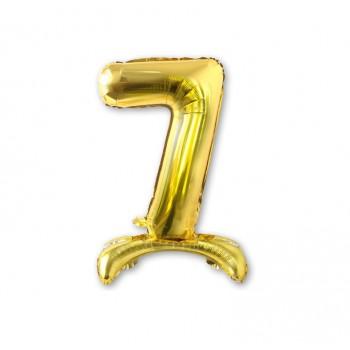 """Balon cyfra złota /stojąca """"7"""" 40 cm"""