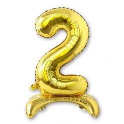 """Balon cyfra złota /stojąca """"2"""" 75 cm"""