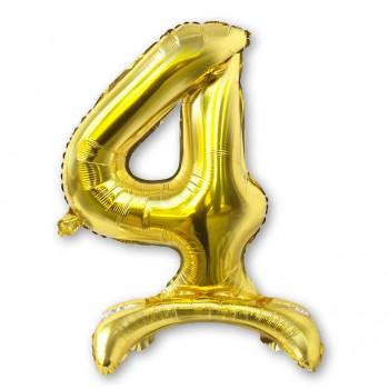 """Balon cyfra złota /stojąca """"4"""" 75 cm"""