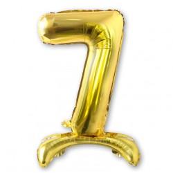 """Balon cyfra złota /stojąca """"7"""" 75 cm"""